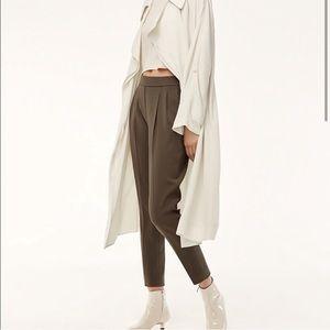 Aritzia Babaton Cohen Olive Green/Brown Pants